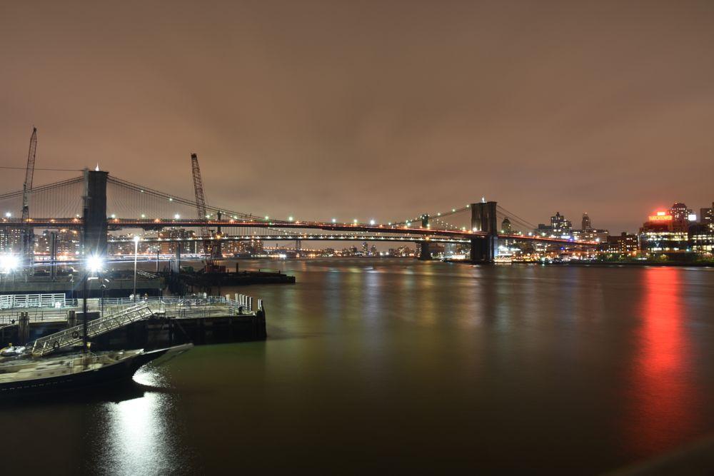 Photo in Cityscape #brooklyn bridge #hudson river #manhattan #brooklyn #water #south ferry #water side #exposure