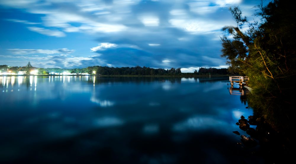 Photo in Landscape #lake #water #reflection #moonlight #stars #astrophotography