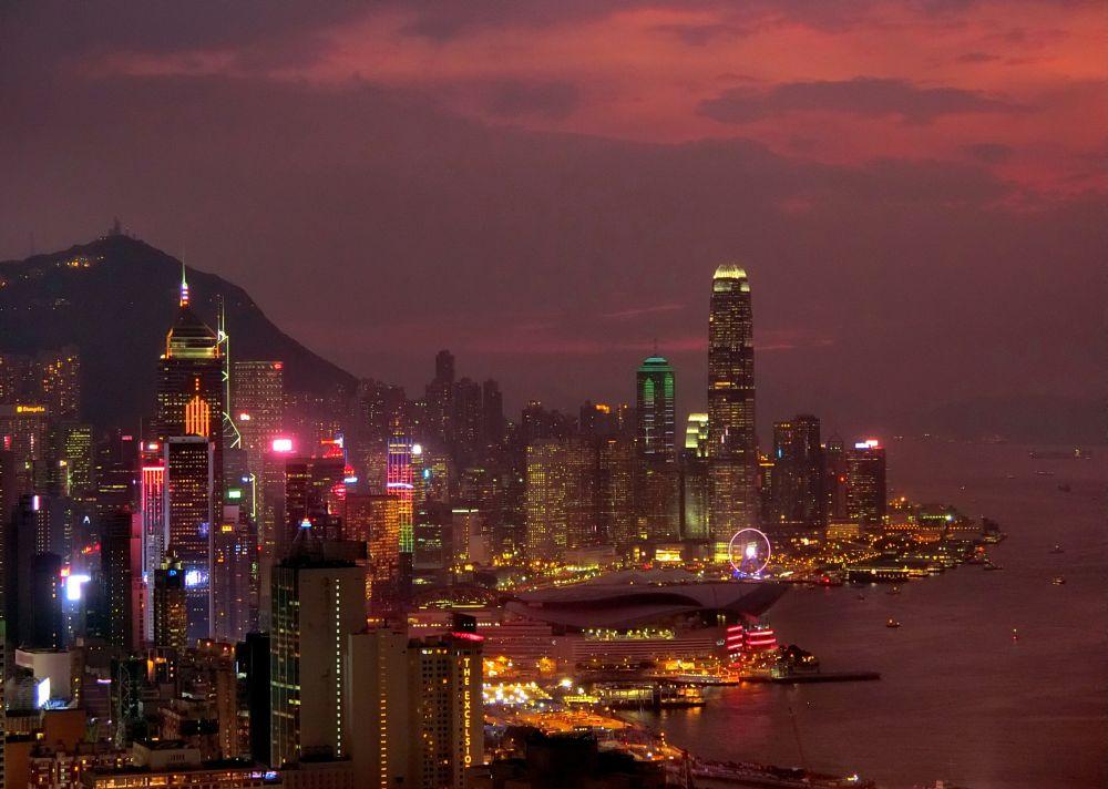 Photo in Urban #sunset #hong kong