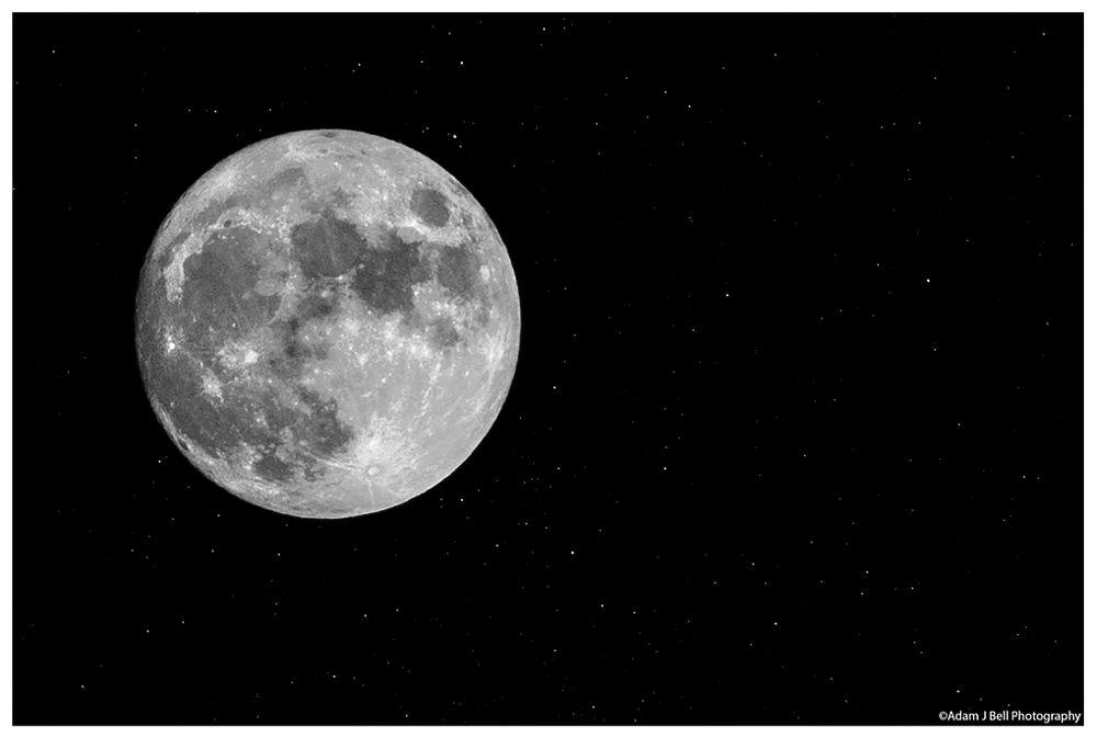 Photo in Landscape #moon #stars #nightsky