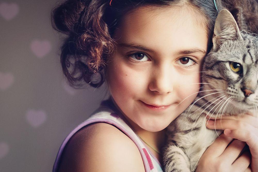 Photo in Portrait #birthday #kid #cat #girl