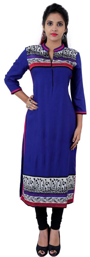 Photo in Fashion #blue kurtis #fashion #women dress #shopping #ethnic kurtis