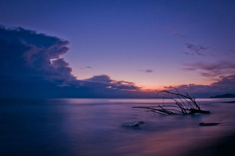 Photo in Landscape #mare #sea #sunset #tramonto #sabbia #long exposure #lunga esposizione