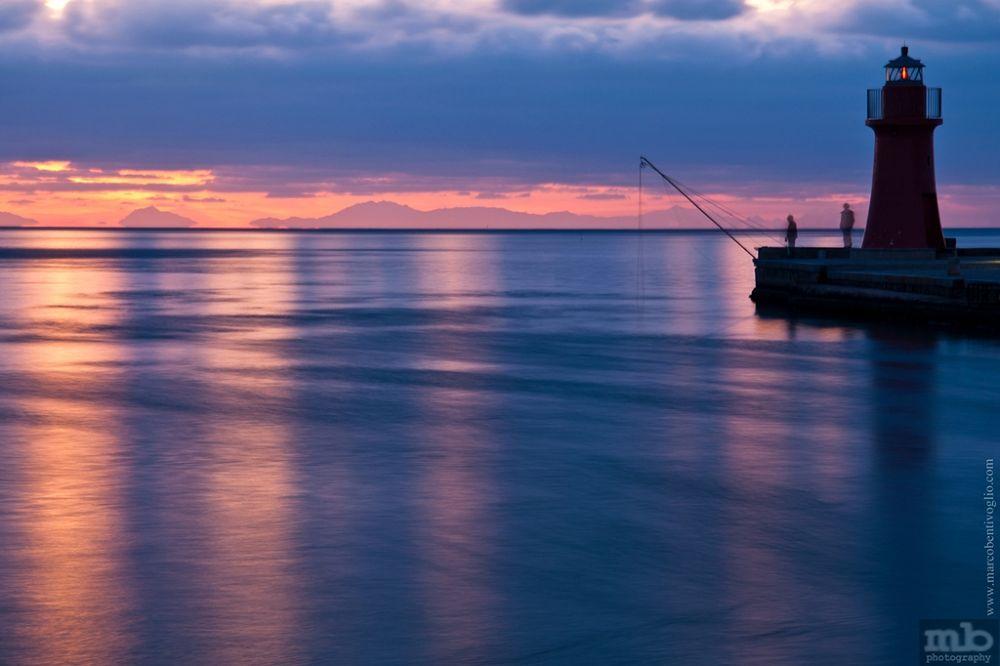 Photo in Random #mare #seascape #sea #lighthouse #sunset #tramonti #tramonto #lunga esposizione #long exposure #riflessi #water