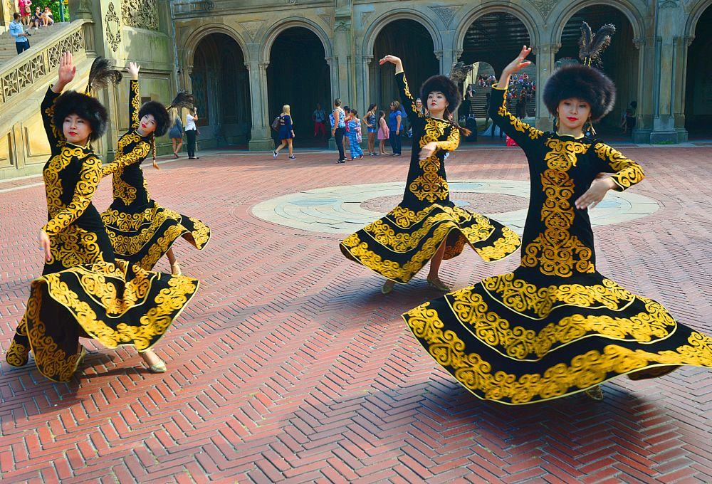 Photo in People #folk dance #central park #betheda temple