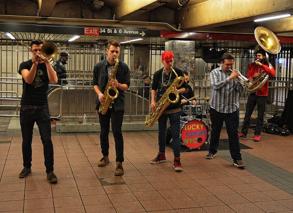Photo in People #band #subway entertainment #ny ny