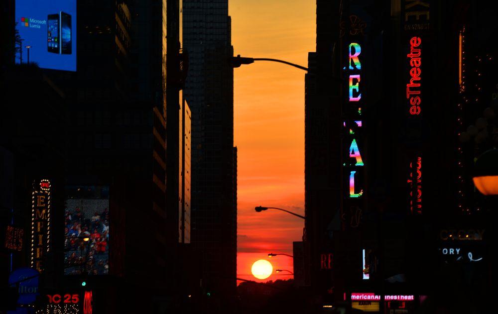 Photo in Street Photography #manhattanhenge ny #nyc #times square