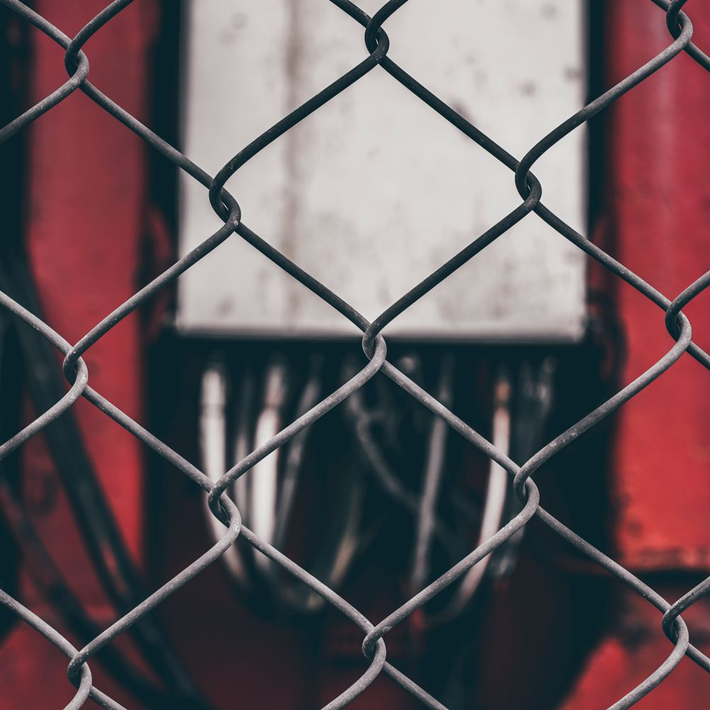 Photo in Cityscape #fence #red #machine #machinery #barrier #scotland #street #nikon #50mm #1.8 #d810