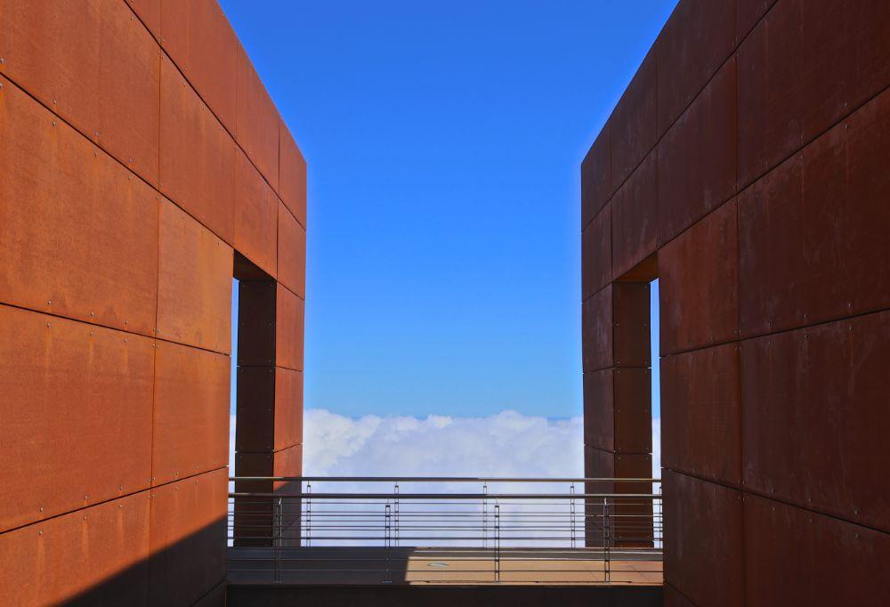 Photo in Architecture #cloud 9 #clouds #portugal #madeira #funchal #architecture #bernardo marques #canon #canon 6d #canon eos 6d #geometry #symmetry #building #bridge