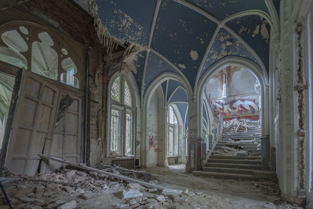 Photo in Architecture #chateau #grand #stunning #derelict #haunting #eerie #charm #abandoned #travel #urbex #urban #explore #exploration #explored #decay #decayed #decaying #nikon #stairs #staircase #ornate #pillars
