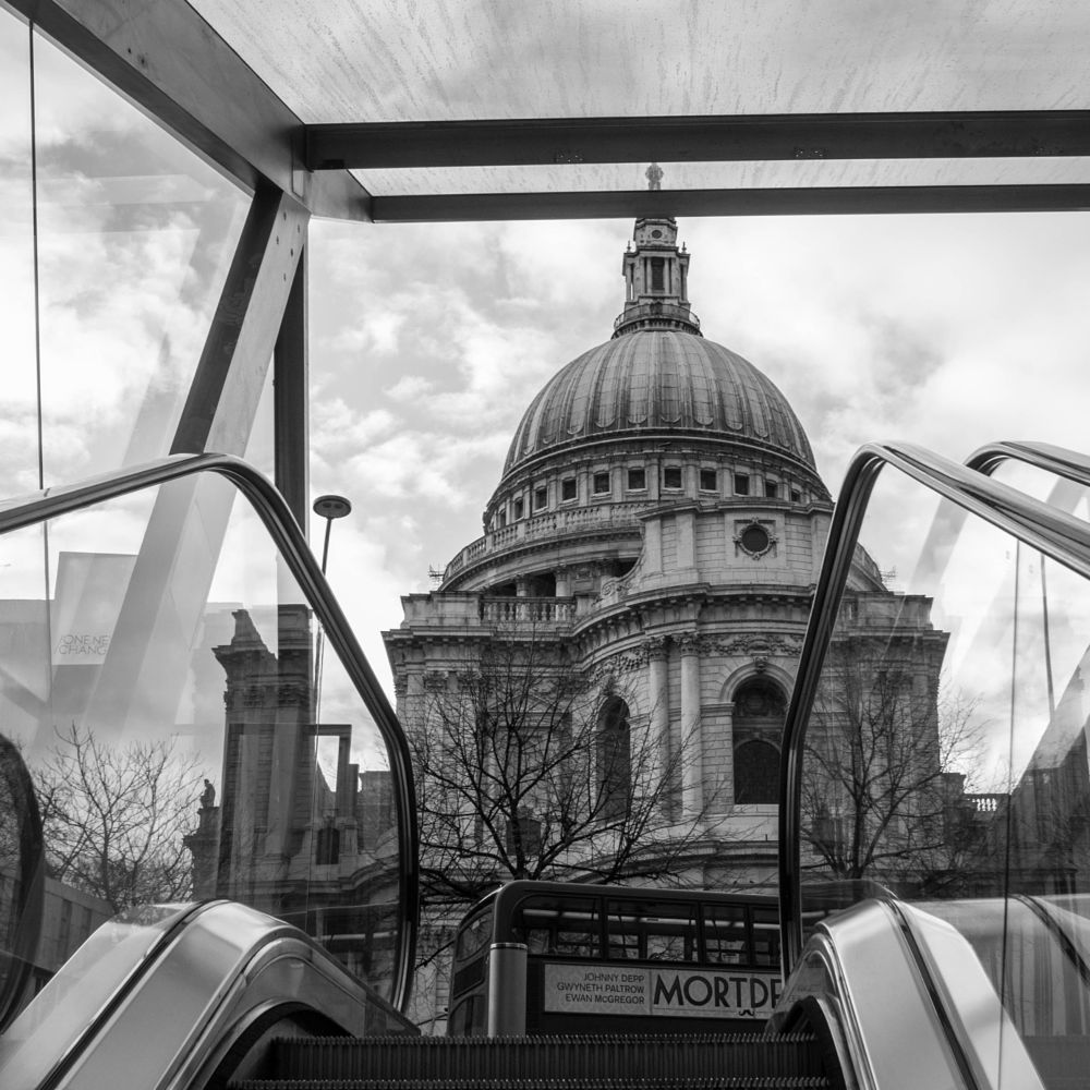 Photo in Black and White #london #catedral #stairs