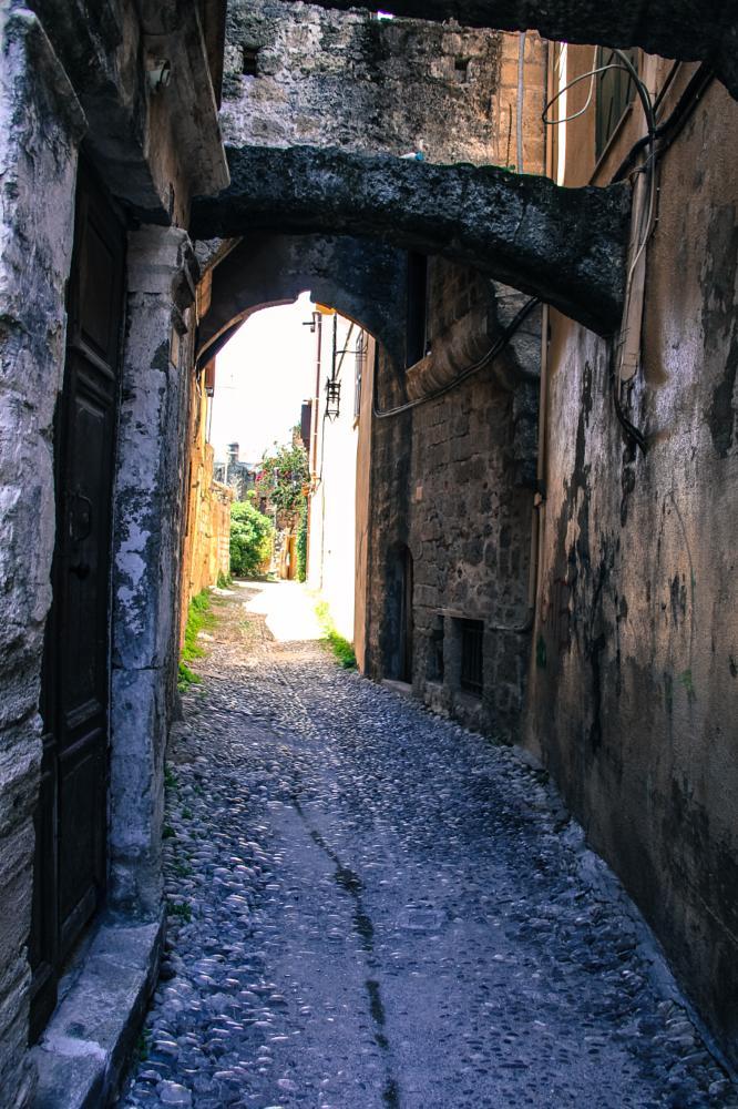Photo in Street Photography #stone street #close walls #stone #bricks