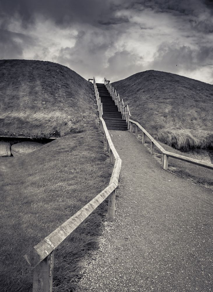 Photo in Random #knowth #neolithic #tomb #black and white