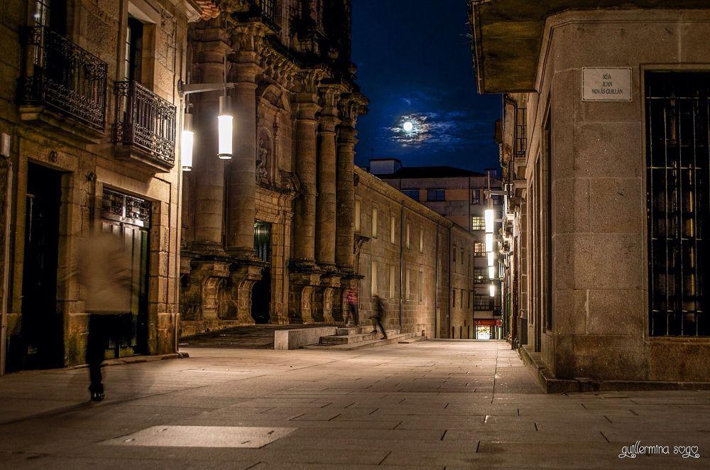Photo in Street Photography #moon #pontevedra #galicia #street