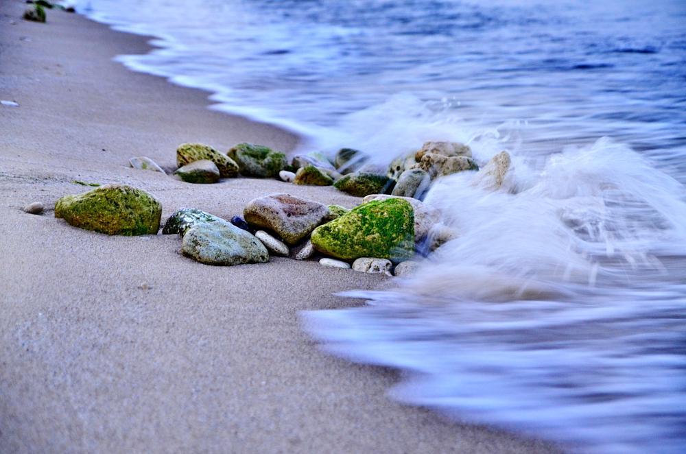 Photo in Sea and Sand #rocks #sea #waves #sand