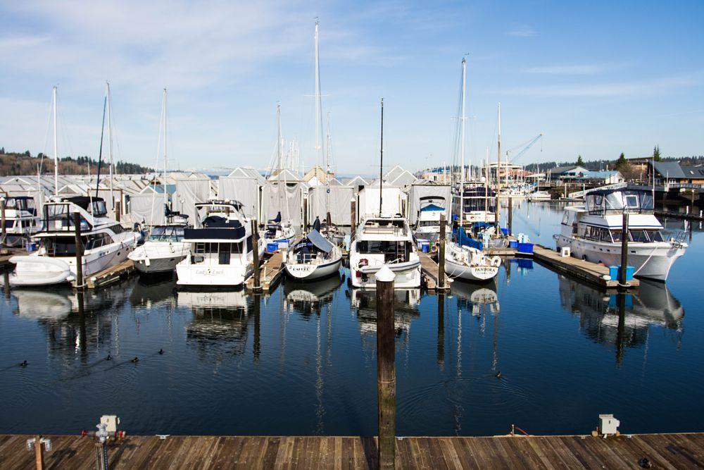 Photo in Urban #boats #olympia #harbor #sunshine #water reflections #ships #boat