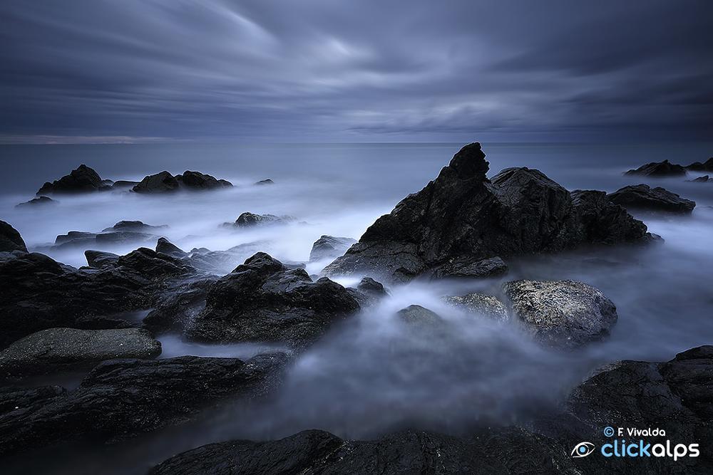 Photo in Landscape #varazze #liguria #stopper #sea #seascape #blue #water #black