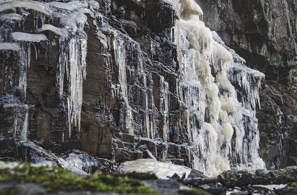 Photo in Landscape #waterfall #ice #frozen #hunneberg #winter