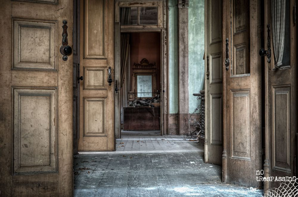 Photo in Interior #urbex #urban exploration #hdr #high dynamic range #abandoned #corridor #interior