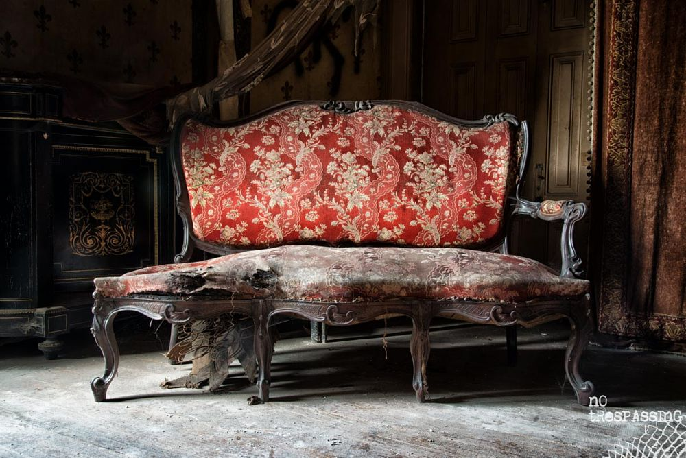 Photo in Interior #urban exploration #urbex #abandoned #furniture #high dynamic range #hdr