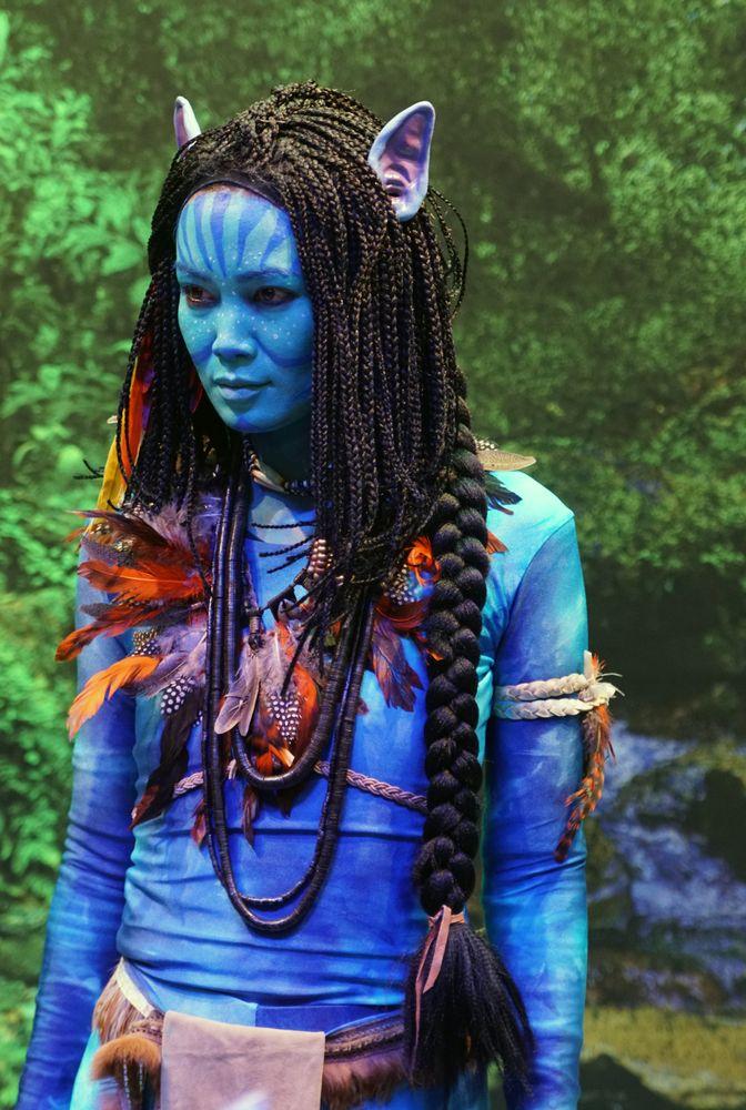Photo in Random #alien #model #female #blue