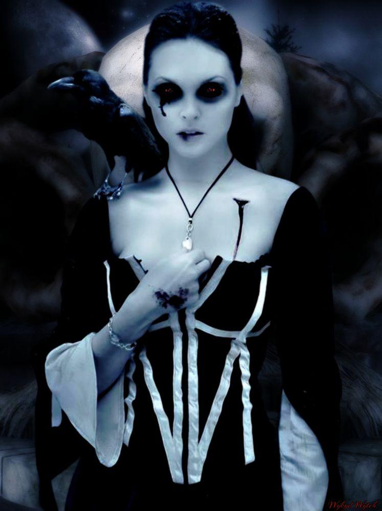 Photo in Portrait #enchant #gthic #raven #portrait #skull #night