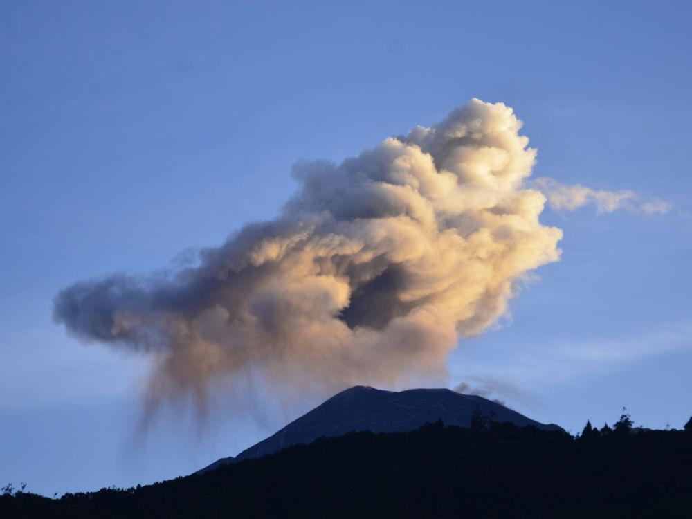 Photo in Nature #banos #ecuador #ash #eruption #mountain