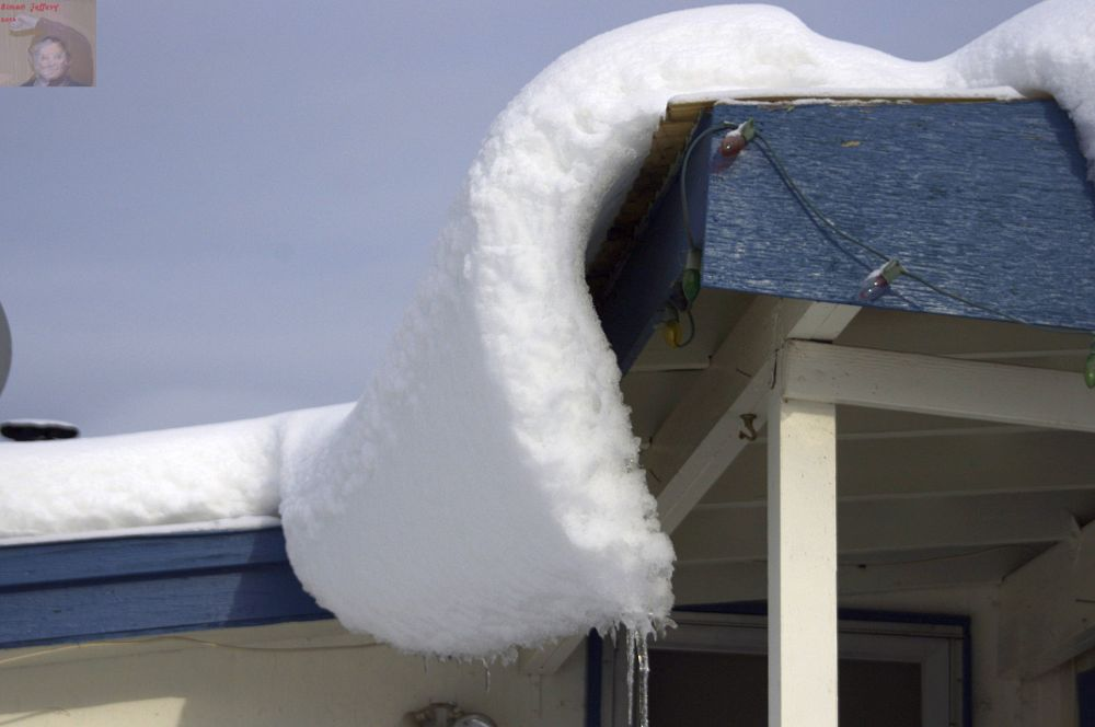 Photo in Nature #snow #roof #curl #blue