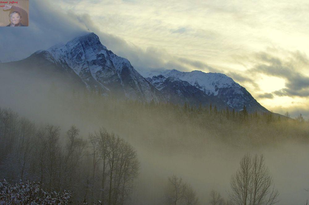 Photo in Landscape #mountain #snow #fog