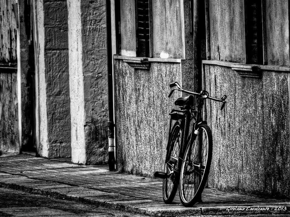 Photo in Fine Art #black and white #hdr #bike #city life #transportation
