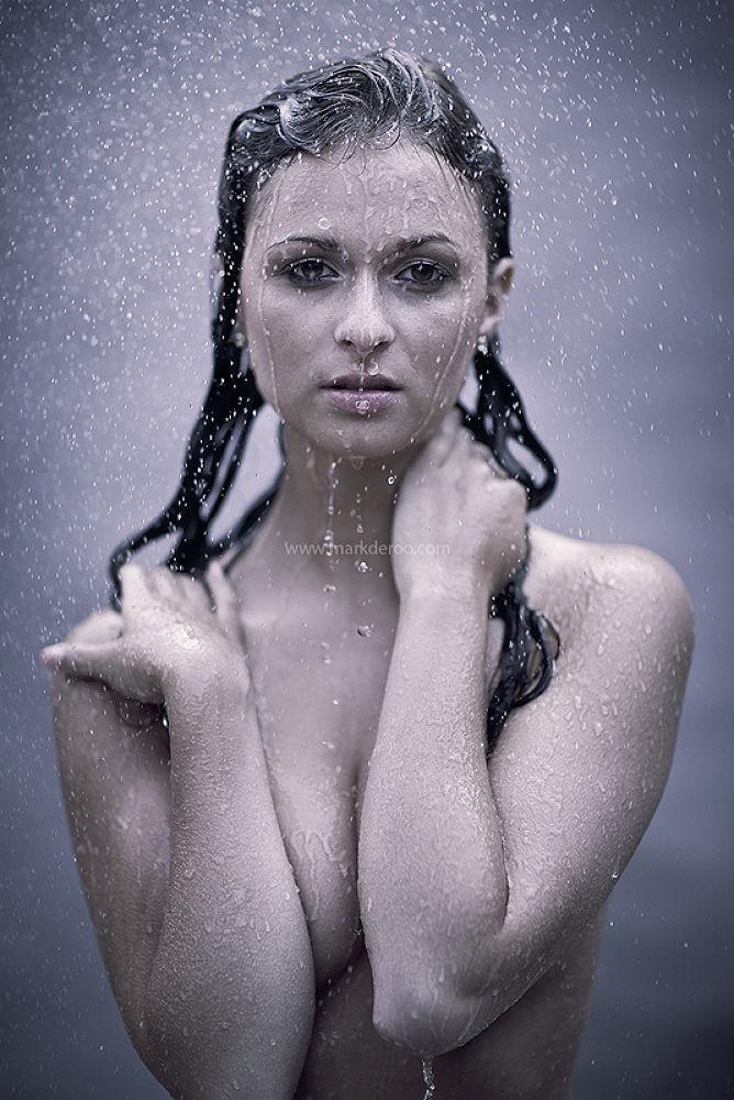Photo in Portrait #mark de roo #model #water #wet #studio #watershoot #markderoophotography #wetlook #nude #natural