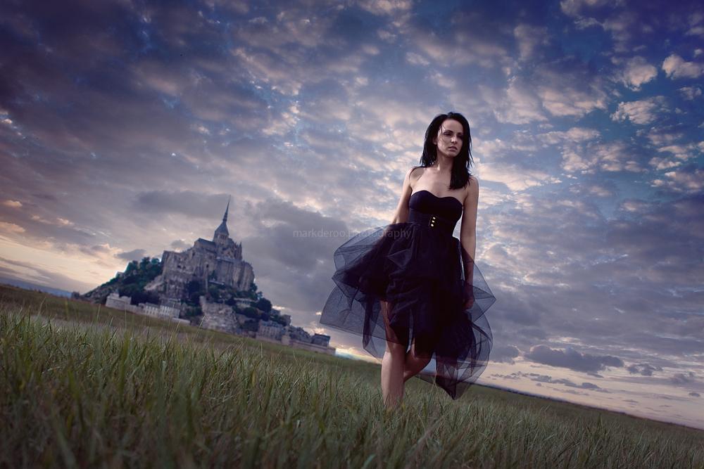 Photo in Fashion #mont saint michel #mark de roo #markderoophotography #model #strobes #hensel