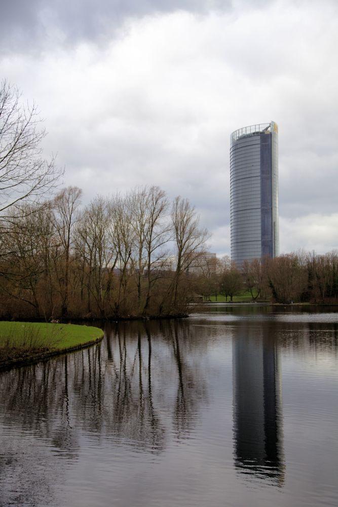 Photo in Cityscape #rheinauen #see #fußwege #radwege #post-tower