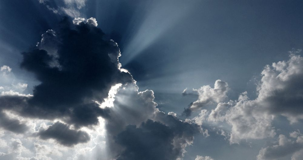 Photo in Aerial #sky #clouds #sunny #rays #ray #nature