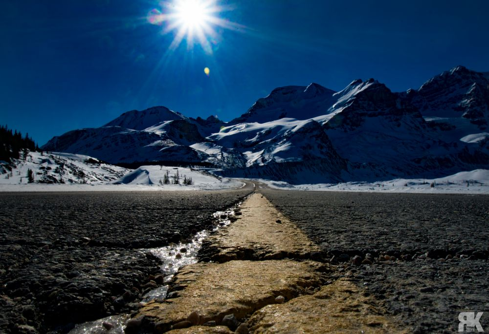Photo in Travel #jasper #jasper alberta #jasper national park #national park #alberta #canada #icefields parkway #landscape #nature #beauty #beauty in nature #travel #outdoors #road #highway #winter #snow #ice #frozen #peaceful #calm #tranquil #sony #sony a77 #blue sky #sonysony a77 #depth of field