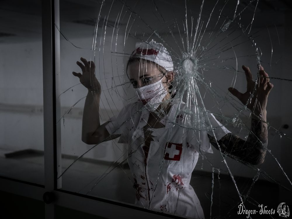 Photo in People #nurse #window #broken #urban #urbex #lost-place