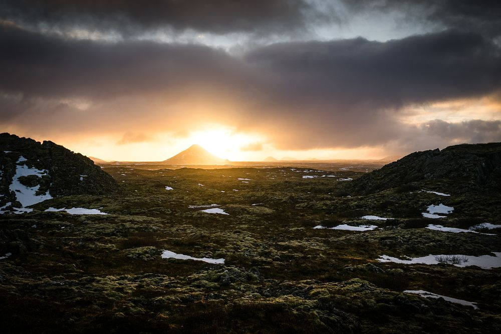 Photo in Random #iceland #roman #burri #volcano #sunset #couds