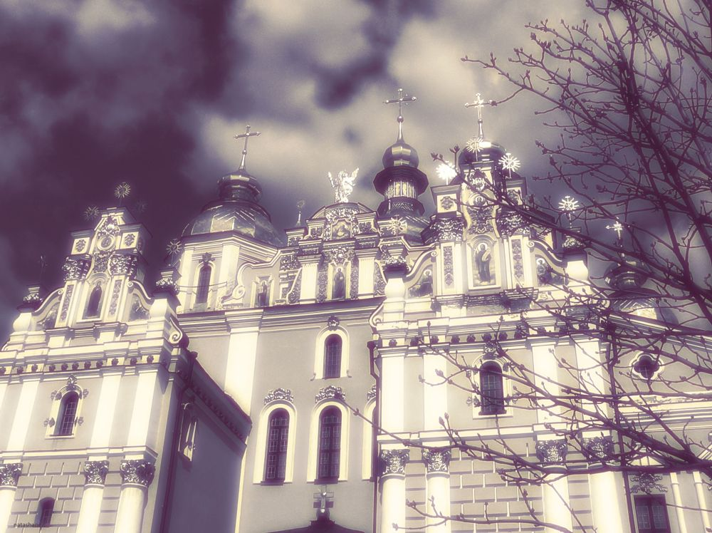 Photo in Random #st. michael's cathedral #temple #dome #tree #sky