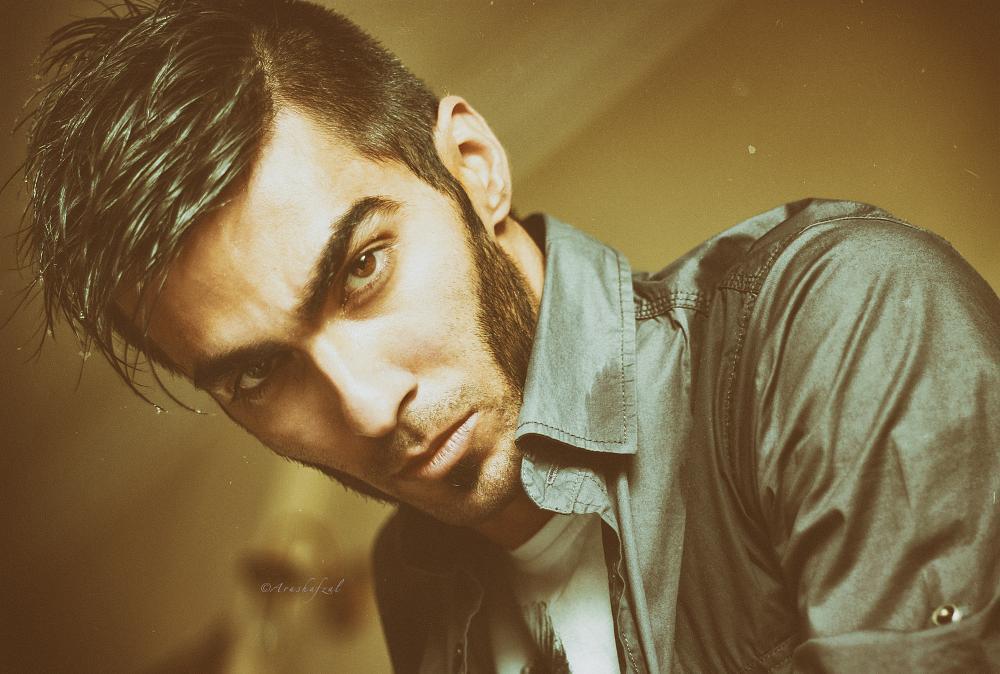 Photo in Portrait #portrait #analog #arash #afzal #green #beard style #hairstyle #wolverine