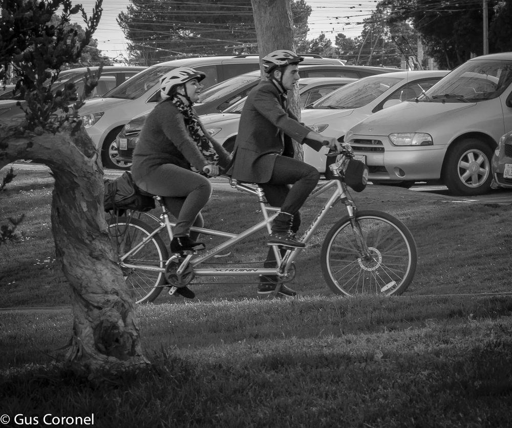 Photo in People #san francisco #biking #couple