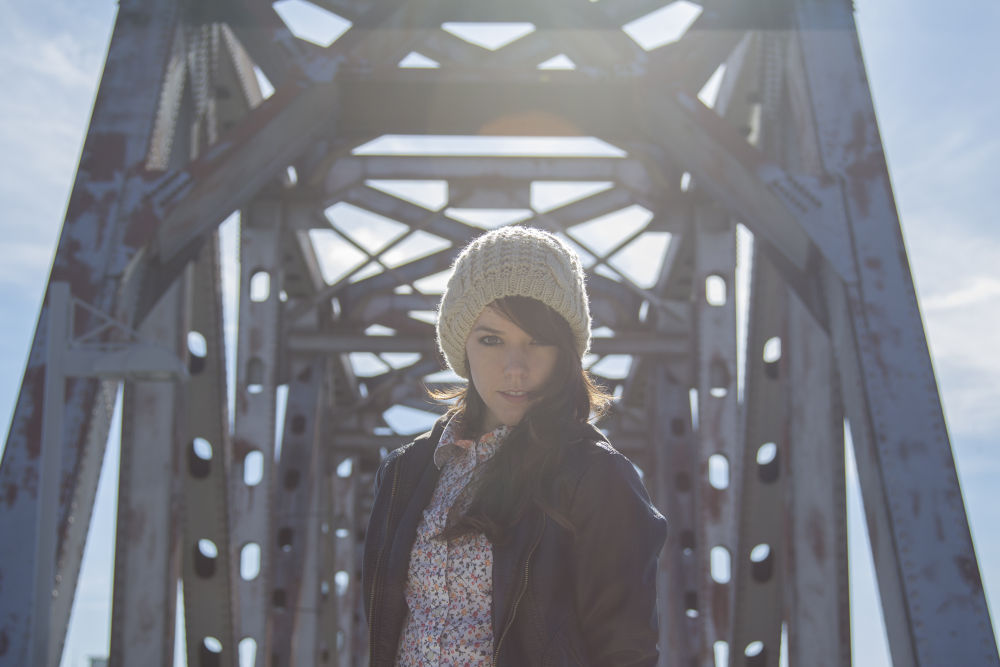 Photo in Random #inplainlight.blogspot.com #inplainlight #girl #model #bridge #color #colors #sky #archtecture #architecture #industrail #cool #blue #winter #fall #cold #beautiful #canon #t3i
