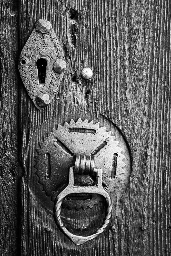 Photo in Architecture #wood #iron #door #detail