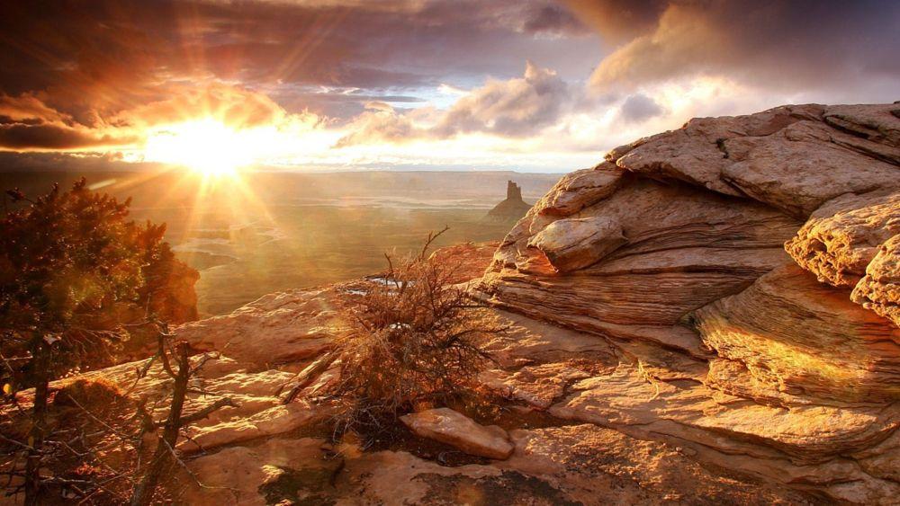 Photo in Landscape #canyon #sun #set