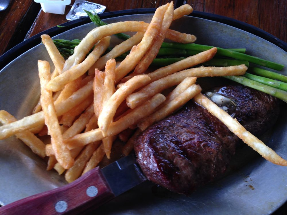 Photo in Food #fries #steak #grill #new year's day