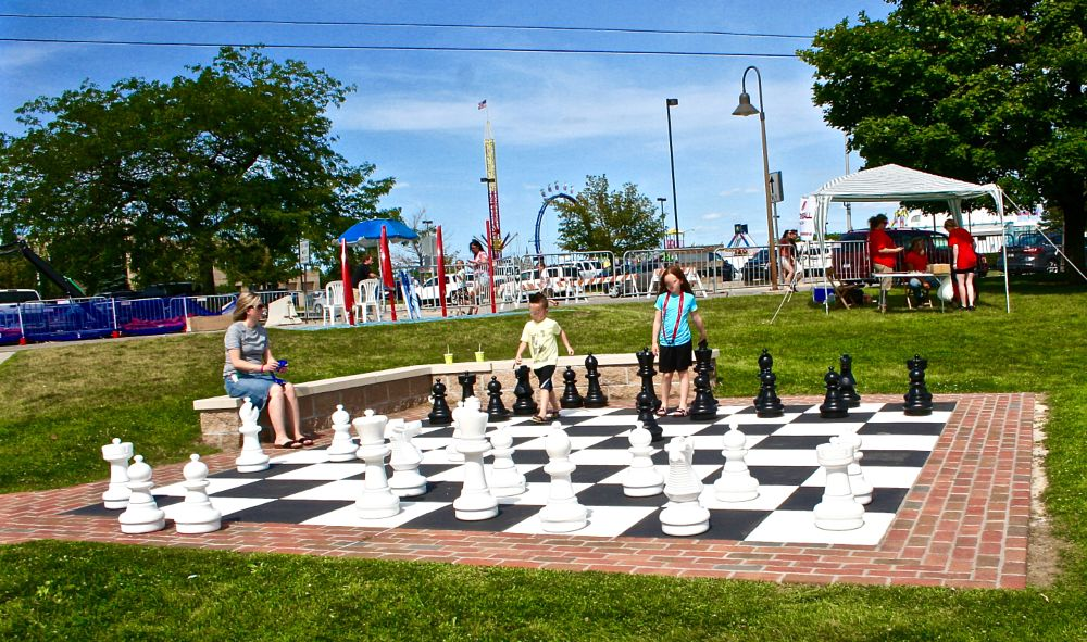 Photo in Random #chess #outdoor #large #port huron yacht club