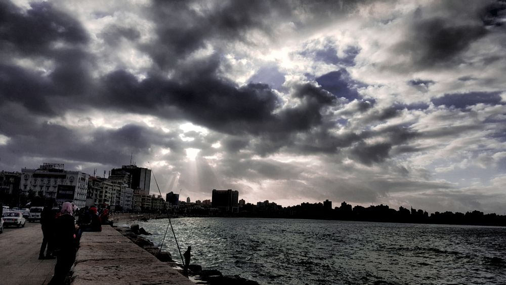 Photo in Random #streetphotography #mobilephotography #walking #thisisegypt #alexandria #clouds #sunset #winter