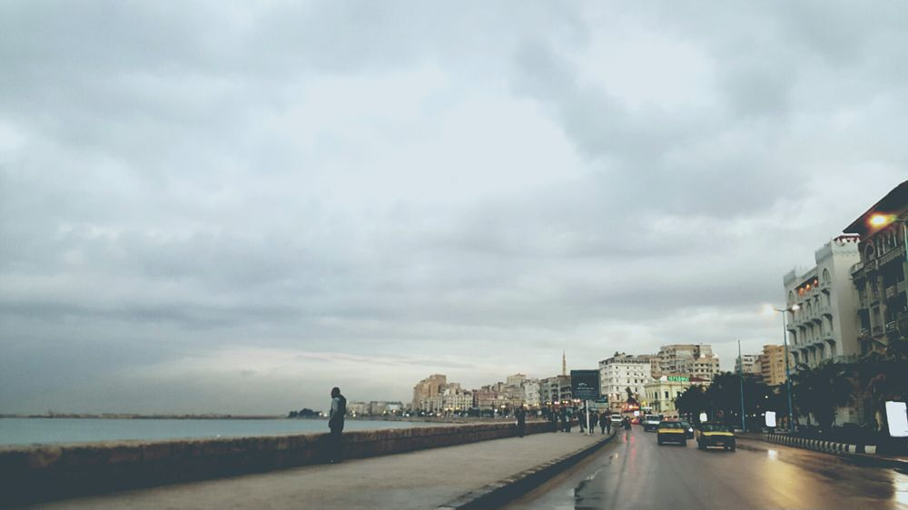 Photo in Random #mobilephotography #note5 #rain #clouds #alexandria #thisisegypt #shore #sunset