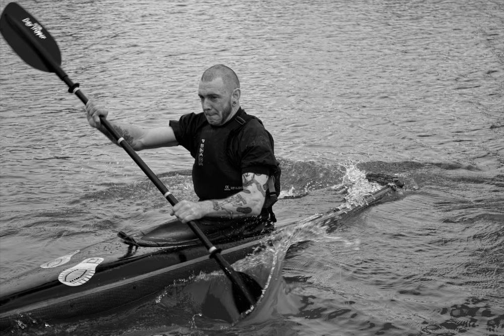 Photo in Sports #blackandwhite #watersport #sport #sportphotography #waterscape #photography