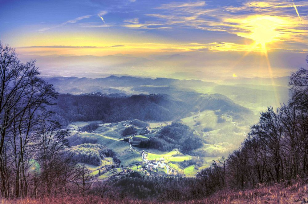 Photo in Landscape #landscape #nature #valley #sunset