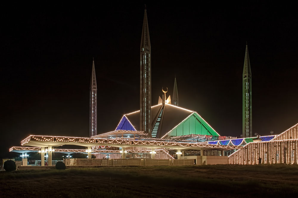 Photo in Architecture #faisal mosque #islamabad #pakistan #south asia #largest mosque #turkish architecture